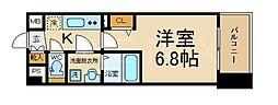 THE GARNET MILLENNIUM KYOTO 九条 6階1Kの間取り