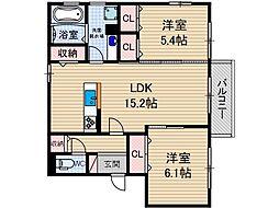 仮称)D-room中河原町[2階]の間取り