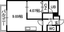 PRIME URBAN円山[00802号室]の間取り