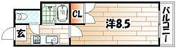 アリビオ黒崎[603号室]の間取り