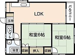 木本レジデンスA[4階]の間取り