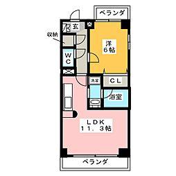 ST PLAZA EAST[5階]の間取り