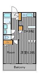 神奈川県横浜市鶴見区鶴見中央2丁目の賃貸マンションの間取り