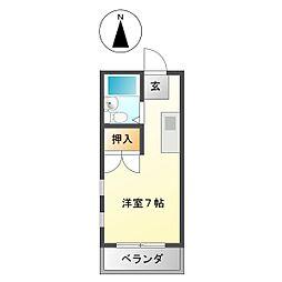 南建コーポ高田本山[403号室]の間取り