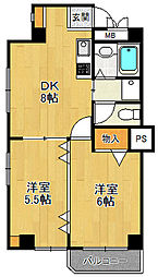 ロングライフパート3[201号室]の間取り