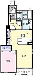 タウンヒルズIII[1階]の間取り