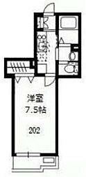 シャルマン稲毛東[202号室]の間取り