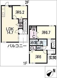 [タウンハウス] 三重県松阪市荒木町 の賃貸【三重県 / 松阪市】の間取り