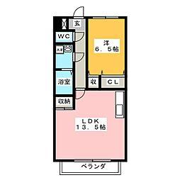 ハイツフラワーガーデン ソルボンヌ[2階]の間取り