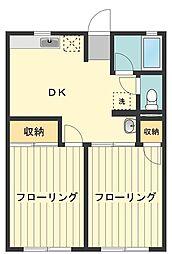 東京都西多摩郡瑞穂町大字殿ケ谷の賃貸アパートの間取り