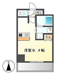 プレサンスNAGOYA桜通ビッグビート[6階]の間取り