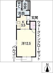 カトル・ドミール[2階]の間取り