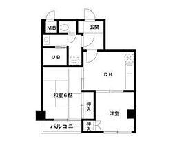TOPHILL[4階]の間取り