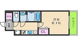 プレサンスTHE TENNOJI 逢坂トゥルー 7階1Kの間取り