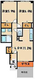 ローレルコートS[1階]の間取り