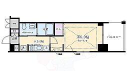 エステムプラザ京都三条大橋 2階1Kの間取り