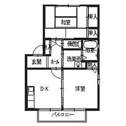 兵庫県加東市梶原の賃貸アパートの間取り