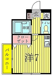 K-1マンション[2階]の間取り
