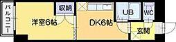 オクタワーズ野幌イーストタワー[401号室]の間取り