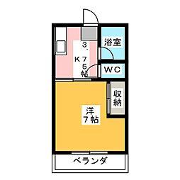 カーサさくらII[1階]の間取り