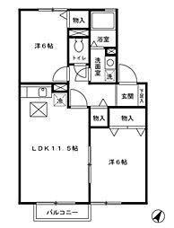 トラッドハウス 一番館[0103号室]の間取り