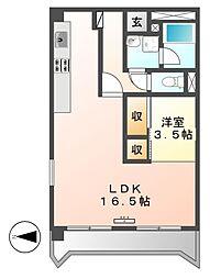 三鈴ノール[6階]の間取り
