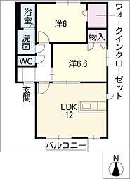 orange court B[2階]の間取り