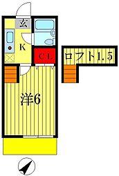 ジュネパレス松戸508[2階]の間取り
