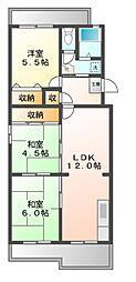 セリージェ24[3階]の間取り