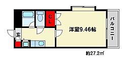 福岡県大野城市白木原3丁目の賃貸マンションの間取り