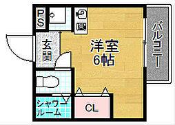 ほーむ21新之栄[3階]の間取り