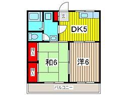 板橋コーポ[2階]の間取り