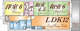 兵庫県神戸市長田区大塚町3丁目の賃貸マンションの間取り