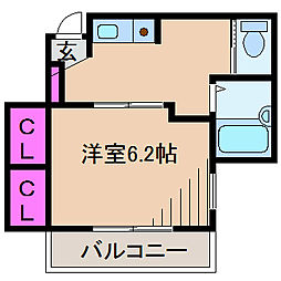 神奈川県横浜市港北区下田町2丁目の賃貸アパートの間取り