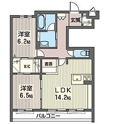 JR東北本線 氏家駅 バス50分 役場前下車 徒歩2分の賃貸マンション 1階2LDKの間取り
