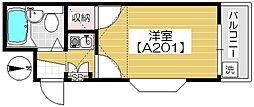 メゾン本太[A201号室]の間取り