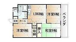 井堀ハイツ[4階]の間取り