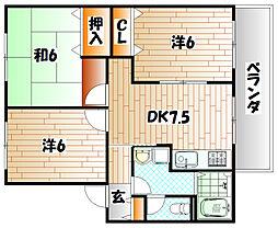 レジデンスKP[2階]の間取り