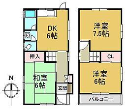 [一戸建] 兵庫県尼崎市浜2丁目 の賃貸【/】の間取り