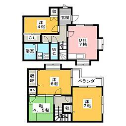 [一戸建] 福岡県福岡市南区寺塚1丁目 の賃貸【/】の間取り