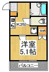 カーサ・エトワール[3階]の間取り