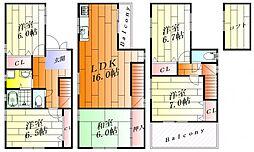 [一戸建] 大阪府摂津市別府2丁目 の賃貸【/】の間取り