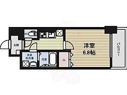 ルディアマン 9階1Kの間取り