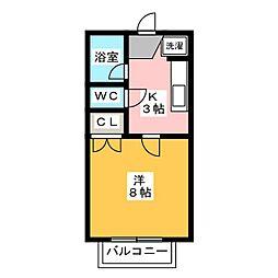 パークウッドKII[2階]の間取り