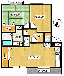 ポポラーレ21[2階]の間取り