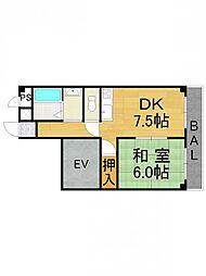 ミピアーチェ武庫之荘[4階]の間取り