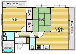 大阪府茨木市橋の内3丁目の賃貸マンションの間取り