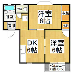 コーポこまつ[2階]の間取り