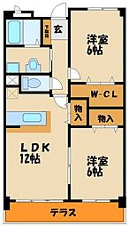 コントレイル[3階]の間取り