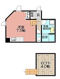 Chanbre清川(シャンブル清川)[102号室]の間取り